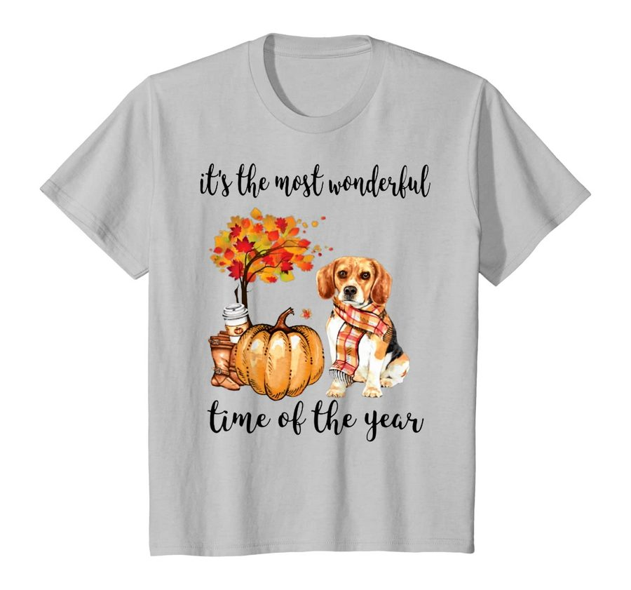 It's The Most Wonderful Time Of The Year Beagle Autumn T-shirt